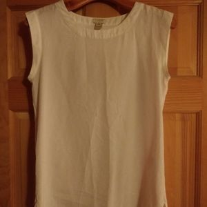 2 for $10/ J. Crew XXS White Sleeveless Top